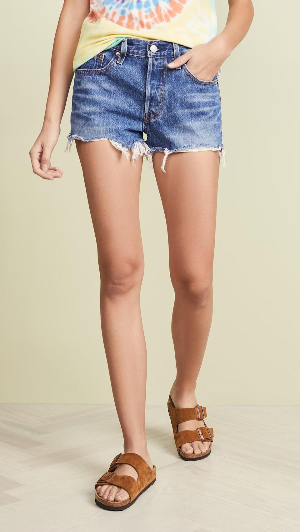 <p>Make sure you pack these <span>Levi's 501 Shorts</span> ($70) in your beach bag. When you think of cutoffs, think of these.</p>
