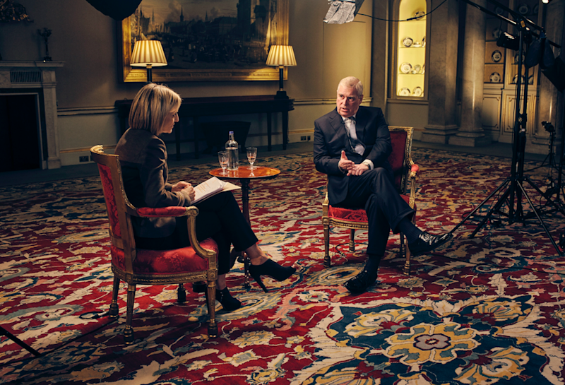 Prince Andrew's Newsnight interview showed him as aloof and out-of-touch, The Sun's former Royal editor Duncan Larcombe told Yahoo's The Royal Special (Picture: BBC News)