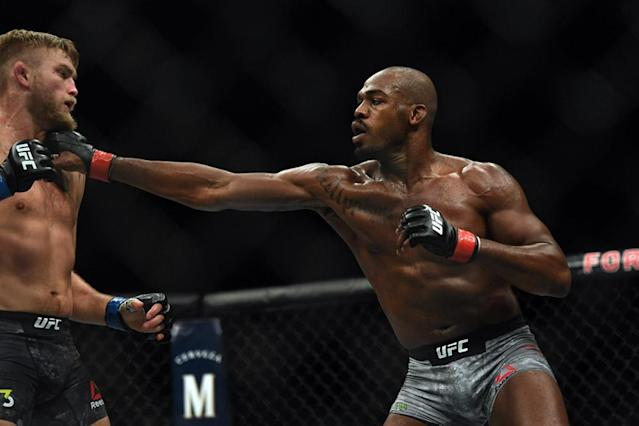 Jon Jones will defend his light heavyweight title in March when he fights Anthony Smith at UFC 235. (Photo by Hans Gutknecht/Digital First Media/Los Angeles Daily News via Getty Images)