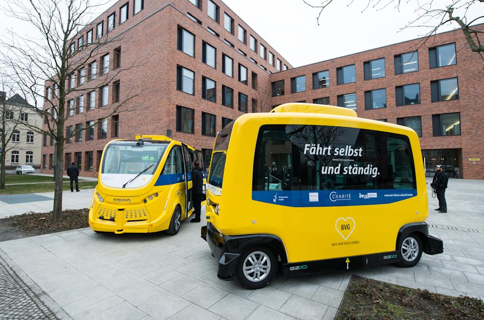 The BVG's self-driving bus is taking to the streets of Berlin. Credit: Berliner Verkehrsbetriebe