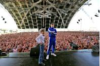 """<p>What a time to be alive! Here, Mason Ramsey poses on stage at Coachella after catching internet fame from a video of him yodeling in a Walmart. Watch the video <a href=""""https://www.youtube.com/watch?v=GtzP6tdKQoU"""" rel=""""nofollow noopener"""" target=""""_blank"""" data-ylk=""""slk:here"""" class=""""link rapid-noclick-resp"""">here</a>. </p>"""