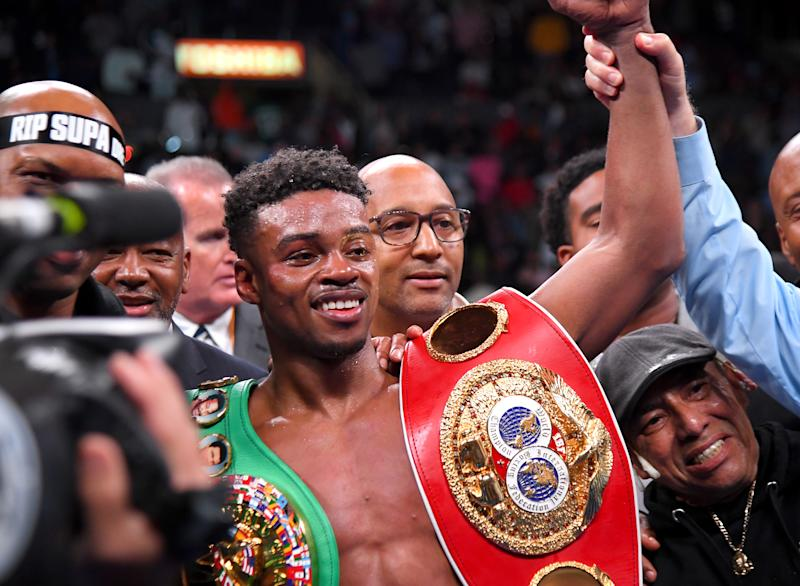 Championship boxer Erroll Spence Jr. was reportedly seriously injured in a one-car crash of his Ferrari. (Photo by Jayne Kamin-Oncea/Getty Images)