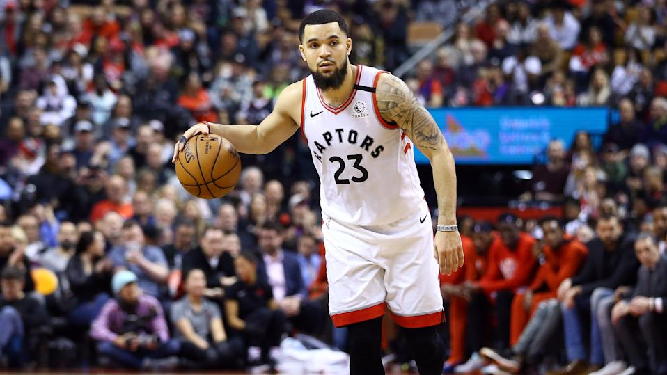 Fred VanVleet left Sunday's scrimmage against the Portland Trail Blazers and will not return. (Vaughn Ridley/Getty Images)