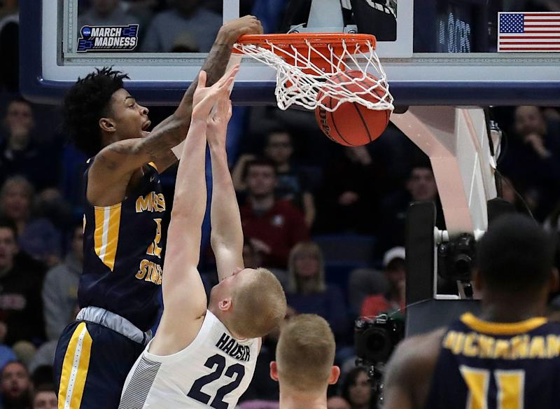 Murray State point guard Morant declares for National Basketball Association  draft