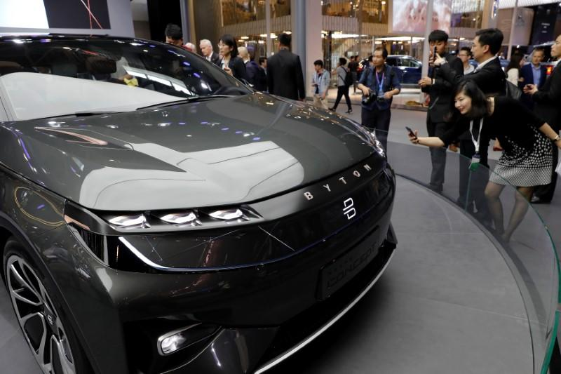 File Photo The Byton Concept T Car Is Displayed During A Media Preview Of