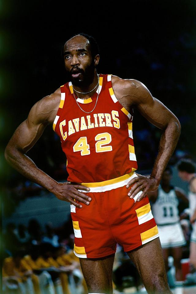 <p>Nate Thurmond, 74, was a professional basketball player who spent most of his career playing for the Golden State Warriors. He was later inducted into the Hall of Fame. He died of leukemia on July 16. — (Pictured) Nate Thurmond #42 of the Cleveland Cavaliers stands on the court during a game against the Boston Celtics circa 1976 at the Boston Garden in Boston, Massachusetts. (Dick Raphael/NBAE via Getty Images) </p>