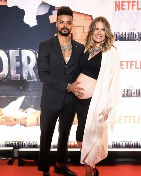 "<p>Lila Darville, <a rel=""nofollow"" href=""https://www.yahoo.com/style/pleasure-director-lila-darville-flaunts-bare-pregnant-belly-crop-top-red-carpet-161643937.html"">the ""Pleasure Director""</a> for Magic Mike Live in Las Vegas (and the <em>very</em> pregnant wife of ""Jessica Jones"" actor Eka Darville) bared her rather sizable baby bump in a black halter crop top and matching skirt at the New York premiere of Marvel's ""The Defenders"" on Tuesday night.<br /><em>(Photo: Instagram) </em> </p>"