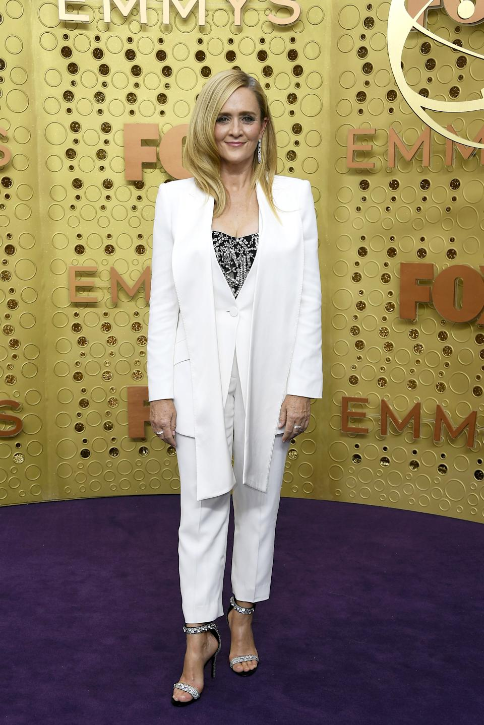 """<h1 class=""""title"""">Samantha Bee in Hearts On Fire and Mémoire jewelry</h1><cite class=""""credit"""">Photo: Getty Images</cite>"""