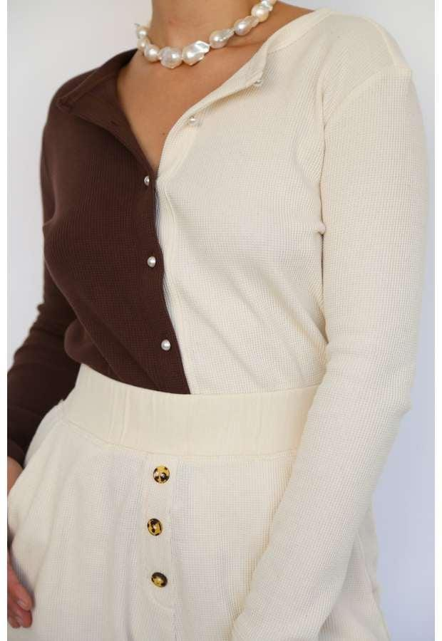 """<p><span>Donni Duo Thermal Cardigan</span> ($144)</p> <p>""""This two tone cardigan is stylish yet classic. It also has a matching pant if you want the ultimate dressed up loungewear look."""" - DAC</p>"""
