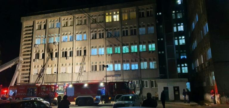 Flames spread rapidly through a hospital unit that had recently been reorganised to cope with extra coronavirus patients
