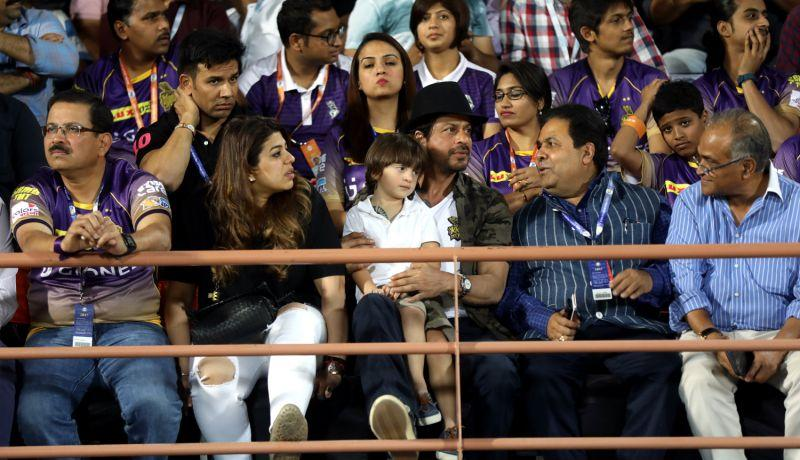 <p>Both father-son were spotted donning a similar tattoo. (Photo: BCCI) </p>
