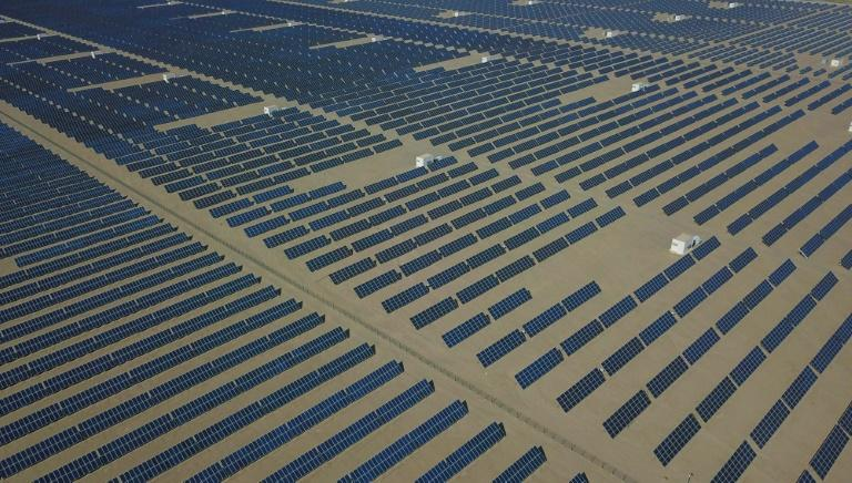 Of the more than 2300 GW of additional power capacity installed globally in the past decade, solar accounted for the largest single share, outpacing fossil fuels such as coal and gas (AFP Photo/STR)