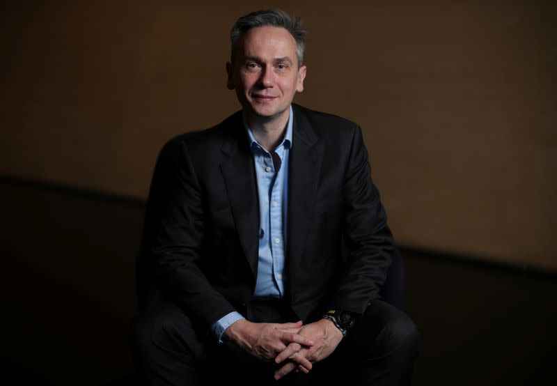 Jean-Sebastien Jacques, CEO of Rio Tinto Group poses for a portrait ahead of the publication of the company 2019 full year results in London