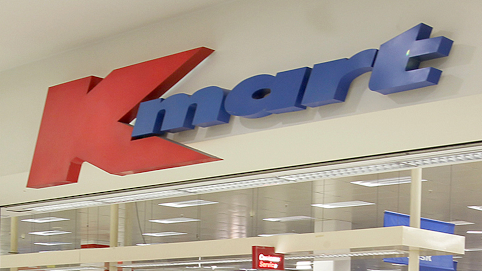 Kmart sign $8 camping packing coffee hack