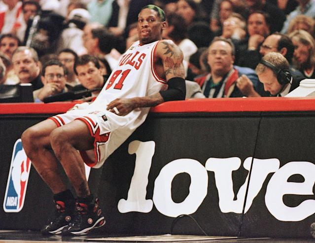 There was no NBA player like Dennis Rodman. (JEFF HAYNES/AFP via Getty Images)