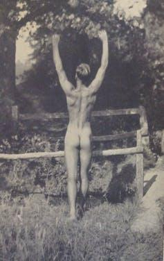 """<span class=""""caption"""">'Sunbathing in Sussex.' Health and Efficiency magazine, 1935.</span> <span class=""""attribution""""><span class=""""source"""">© H&E naturist magazine/Hawk Editorial Ltd.</span>, <span class=""""license"""">Author provided</span></span>"""