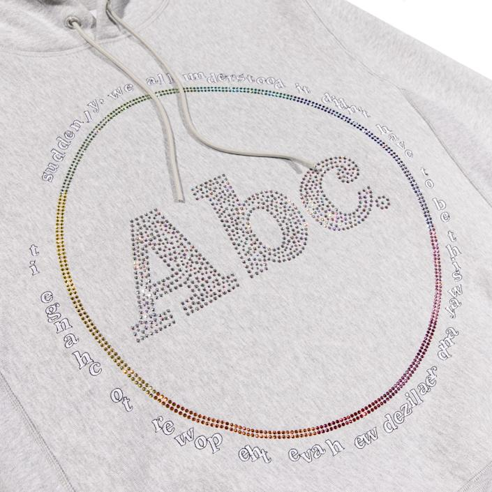 "Made in collaboration with Swarovski, the sweatshirt uses 1,350 crystals to create the brand graphic. <span class=""copyright"">(Zaul Zamora)</span>"