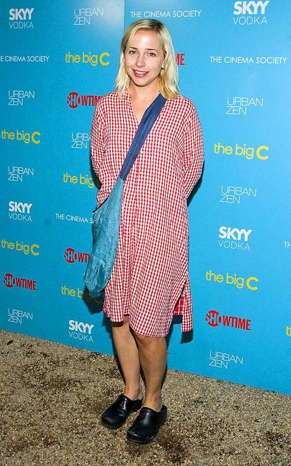 """Ever wonder what happened to Roseanne's TV daughter Becky Connor? Unfortunately, now we do. Alicia """"Lecy"""" Goranson dared to attend """"The Big C"""" soiree wearing a red-and-white checkered nightshirt (or is it a tablecloth?) and clunky black clogs. Steven A Henry/<a href=""""http://www.wireimage.com"""" target=""""new"""">WireImage.com</a> - August 7, 2010"""