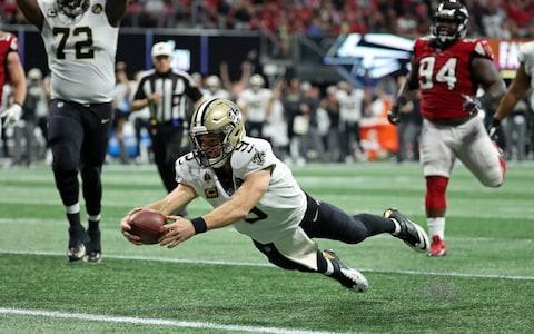 <span>Drew Brees pulled off a vital comeback for the Saints in Atlanta</span> <span>Credit: (Jason Getz/USA Today) </span>