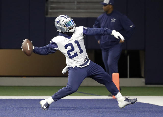 Dallas running back Ezekiel Elliott could be on the outside looking in when the Cowboys agree to long-term deals with their young stars. (AP)