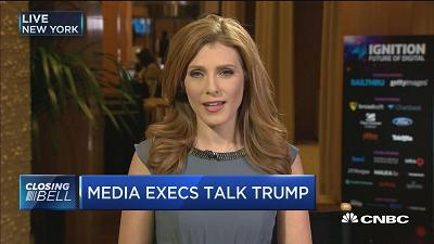 CNBC's Julia Boorstin reports on comments made by Time Warner CEO Jeff Bewkes and AT&T CEO Randall Stephenson at the Business Insider Ignition conference about Donald Trump's opposition of the proposed merger between the two companies.