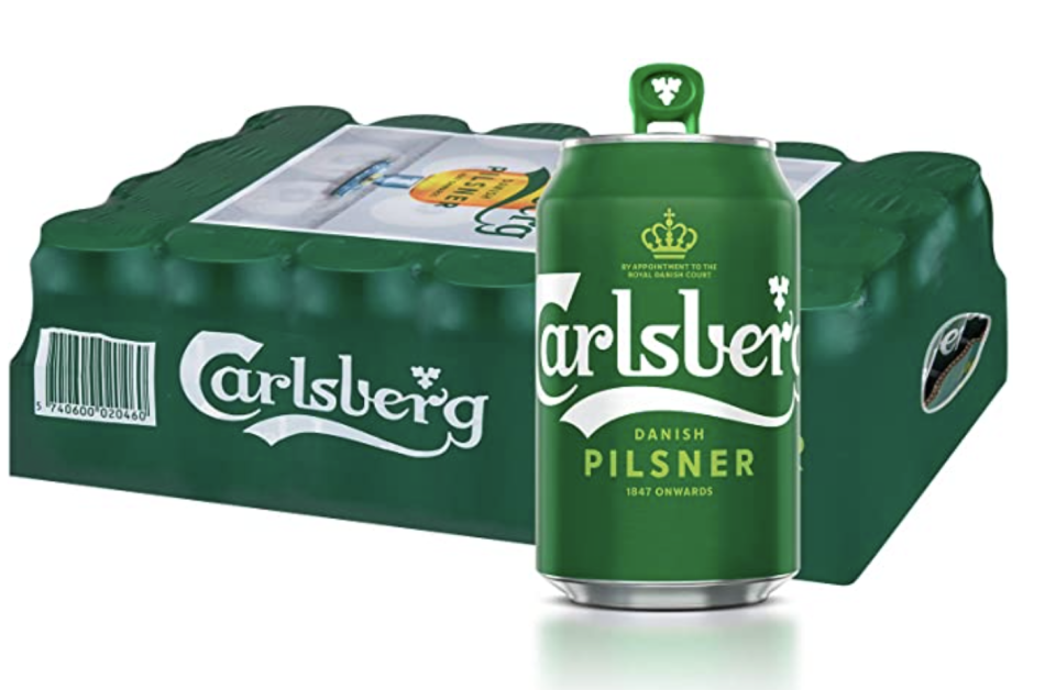 Carlsberg Green Label Beer Can, 320ml (Pack of 24). (PHOTO: Amazon)