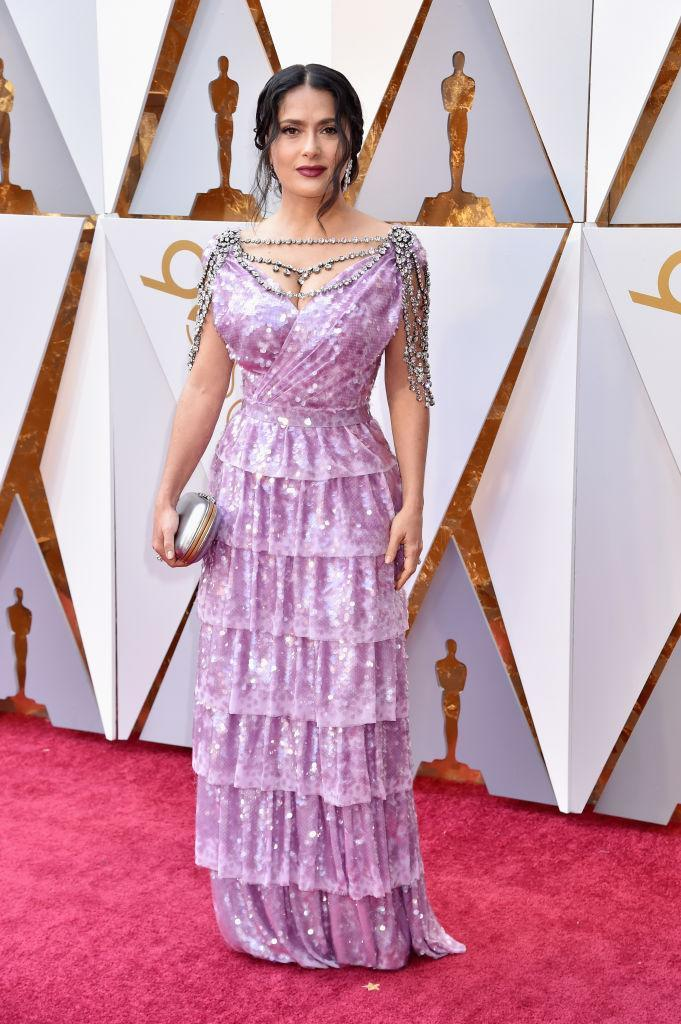 <p>Salma Hayek attends the 90th Academy Awards in Hollywood, Calif., March 4, 2018. (Photo: Getty Images) </p>