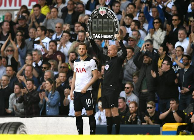 <p>Harry Kane awaits his return to action</p>