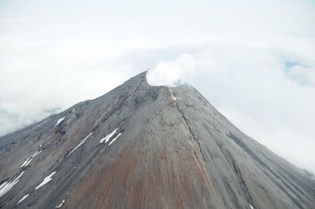 An aerial photograph of the Cleveland Volcano