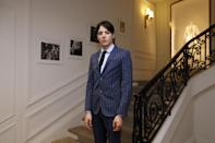 US socialite and model Harry Brant poses before Christian Dior 2016-2017 fall/winter Haute Couture collection fashion show on July 4, 2016 in Paris. / AFP / PATRICK KOVARIK (Photo credit should read PATRICK KOVARIK/AFP via Getty Images)