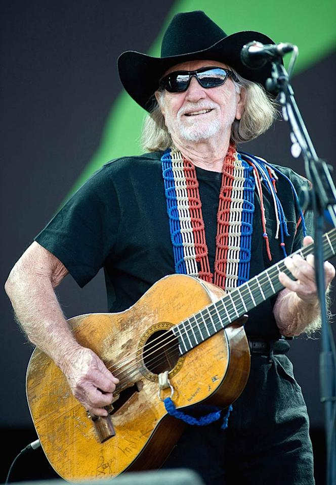 "Willie Nelson turns 78 Ian Gavan/<a href=""http://www.gettyimages.com/"" target=""new"">GettyImages.com</a> - June 25, 2010"