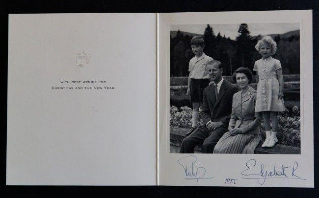 <p>Queen Elizabeth II poses with Prince Philip and their two children, Charles and Anne.</p>