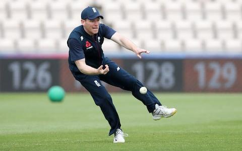 England's Eoin Morgan during nets - Credit: Reuters