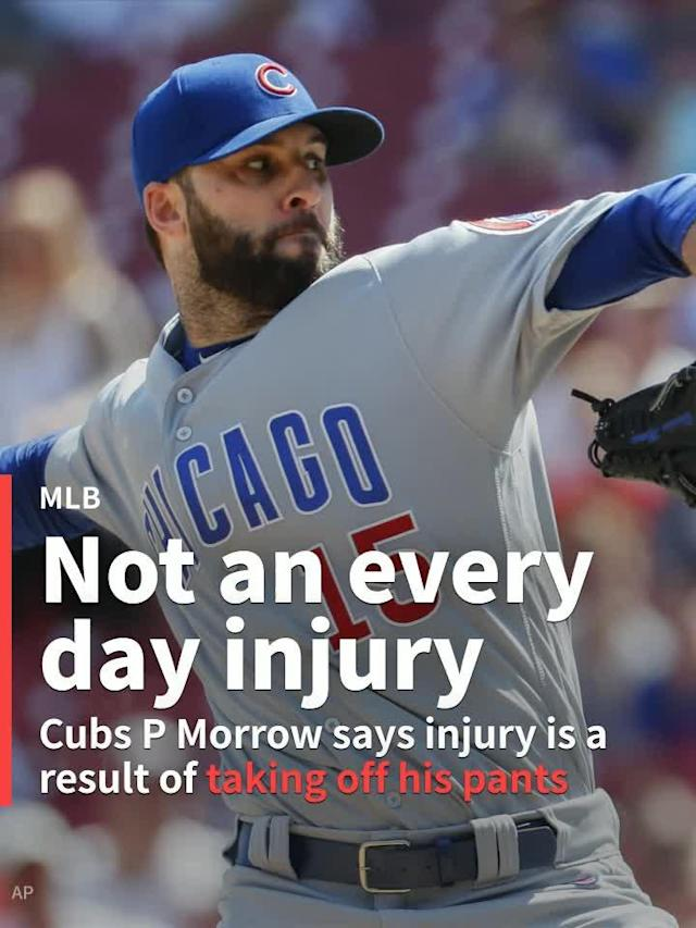 Chicago Cubs closer Brandon Morrow hates pants just as much as the rest of us. Morrow, however, probably has more legitimate reasons for being angry with his clothes. The reliever says pants are to blame for his latest injury.