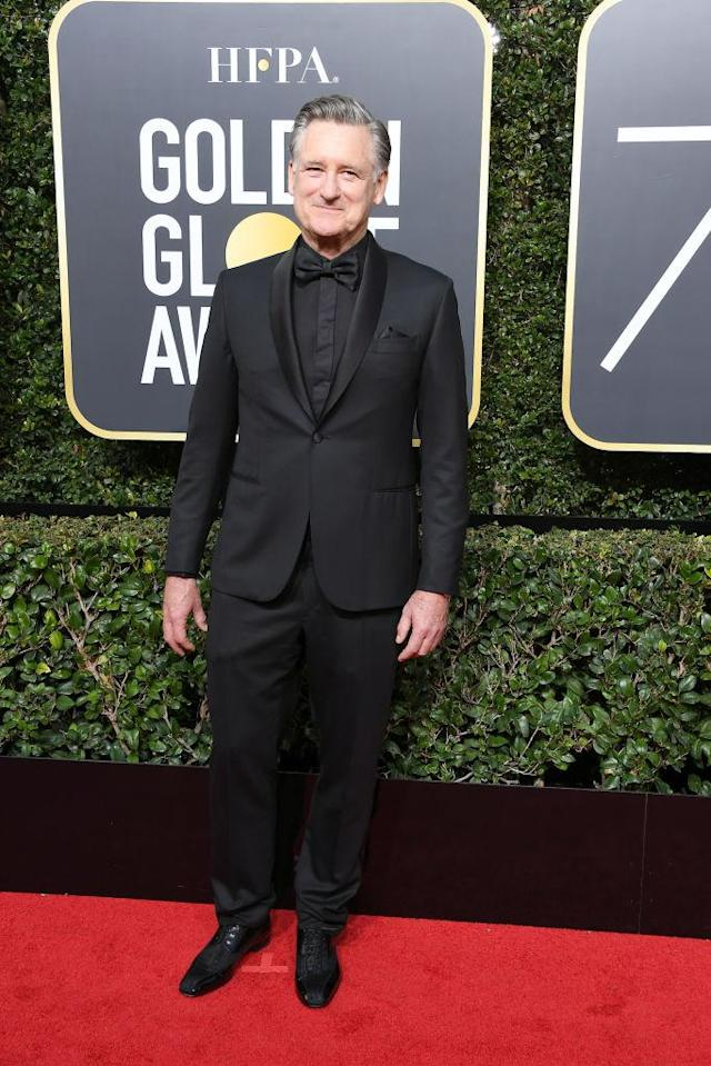 <p>Bill Pullman, who appeared in <em>The Sinner</em>, attends the 75th Annual Golden Globe Awards at the Beverly Hilton Hotel in Beverly Hills, Calif., on Jan. 7, 2018. (Photo: Steve Granitz/WireImage) </p>