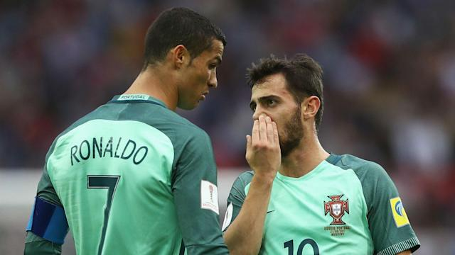 The Portugal international is waiting to discover who the Premier League leaders will face in the last eight, with Juventus one possible opponent