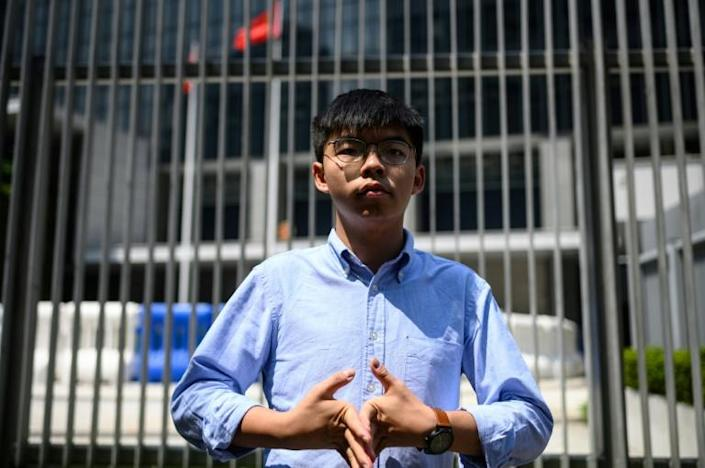 (FILES) In this file photo taken on September 28, 2019 pro-democracy activist Joshua Wong is pictured in Hong Kong; Amnesty International has backed Wong's plea to end German military training with China (AFP Photo/Philip FONG)