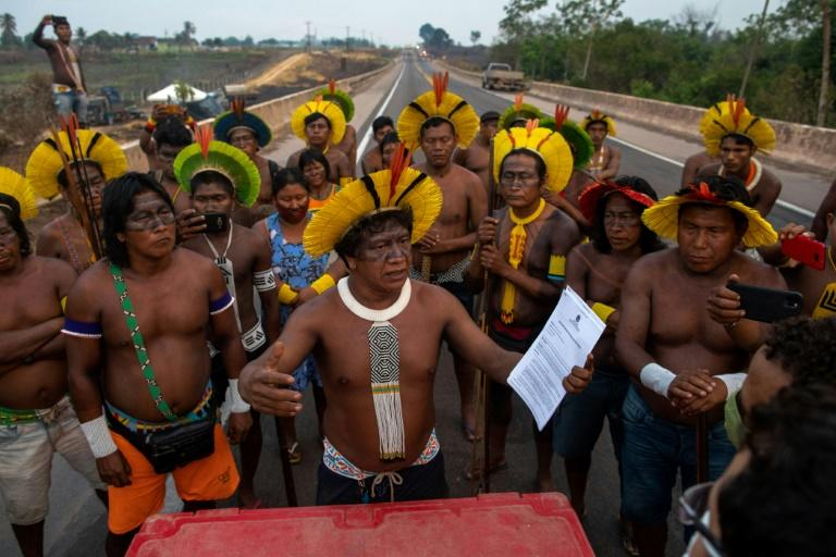 Amazon indigenous protesters vow indefinite roadblock