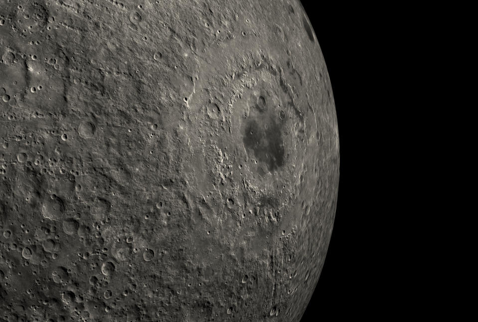 Water discovered in sunlit parts of the moon