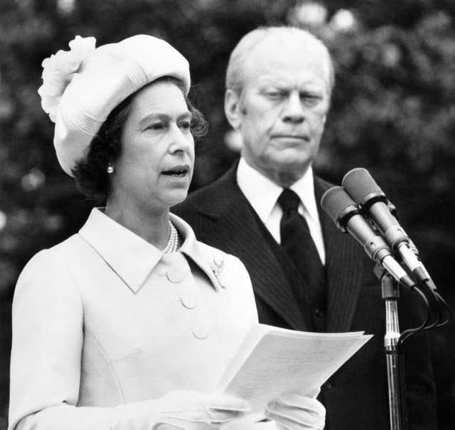 The Queen with Gerald Ford