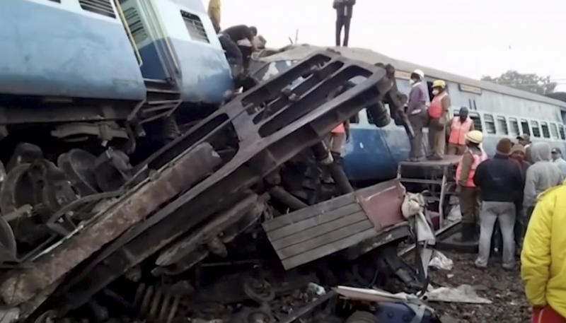 At least 32 killed, 50 injured as train derails in India