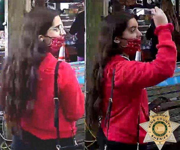 PHOTO: The King County Sheriff's Office released video surveillance of Gia Fuda, 18, at a coffee shop in Index, Wash., on July 24, 2020, where she was last seen before going missing. She was found alive eight days later. (King County Sheriff's Office)