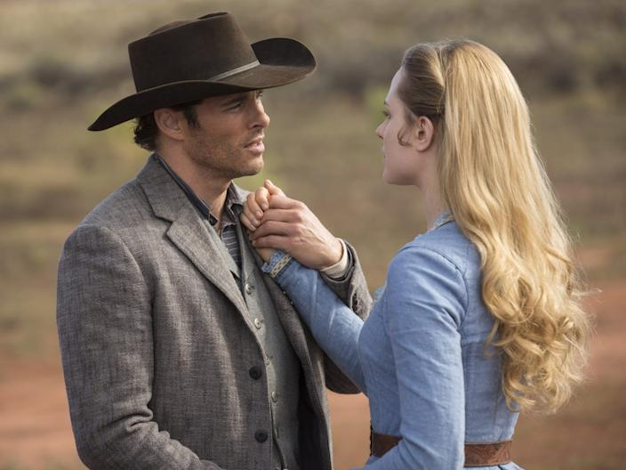 """Teddy and Dolores in season one of """"Westworld."""""""