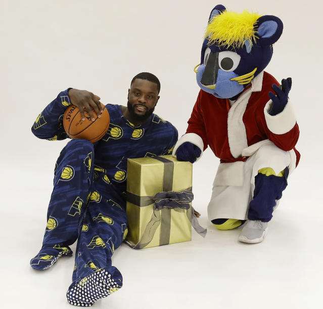 Lance Stephenson is the gift that keeps on giving. Or something like that. (AP)