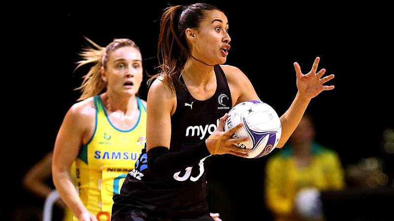 Maria Folau, pictured here in action for New Zealand against Australia in the Constellation Cup.