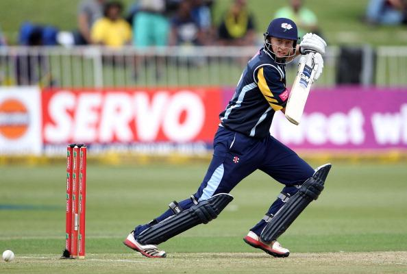 DURBAN, SOUTH AFRICA - OCTOBER 22:  Joseph Root of Yorkshire in action during the Champions League twenty20 match between Chennai Super Kings and Yorkshire Carnegie at Sahara Stadium Kingsmead on October 22, 2012 in Durban, South Africa. (Photo by Anesh Debiky / Gallo Images/Getty Images)