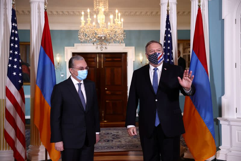 FILE PHOTO: U.S. Secretary of State Pompeo meets with Armenia's Foreign Minister Mnatsakanyan at the State Department in Washington