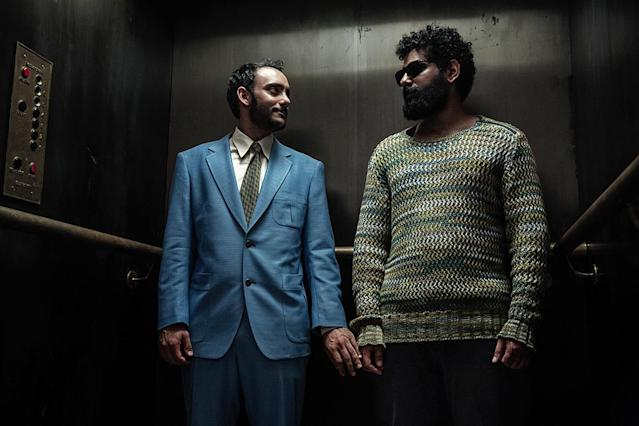 <p>Omid Abtahi as Salim and Mousa Kraish as The Jinn in Starz's <i>American Gods</i>.<br><br>(Photo: Starz) </p>
