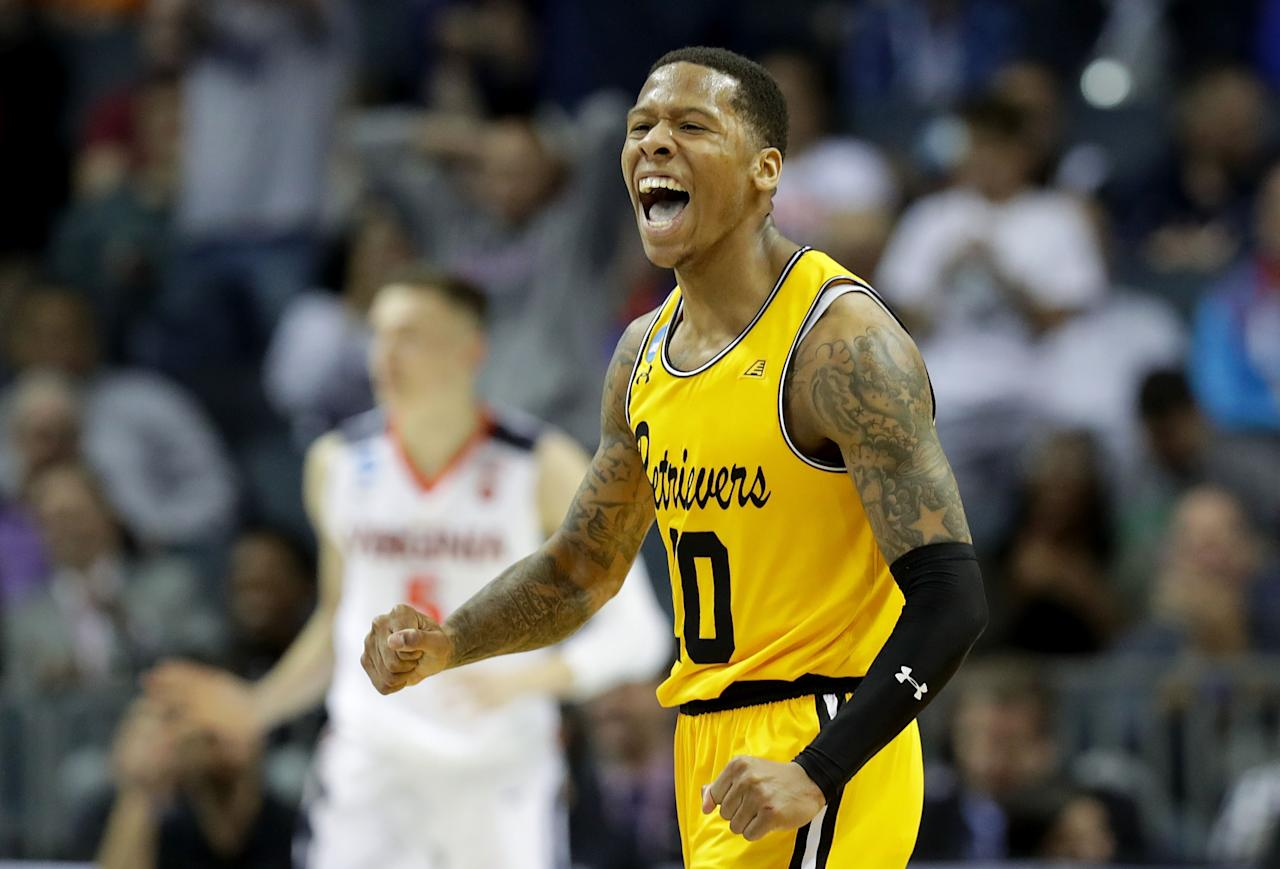 <p>Then: Oh, Lyles and the Retrievers just did something no other team had ever done in tournament history in 2018, becoming the first No. 16 seed to knock off a No. 1 seed. The senior guard pumped in 28 points in the 74-54 thumping of Virginia.<br />Now: Lyles is trying to keep his hoop dreams alive, playing for the Salt Lake City Stars of the NBA G League, where he's averaging a shade under 13 points a game. </p>