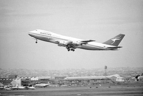 A Qantas 747 takes off in 1974 - Credit: Getty